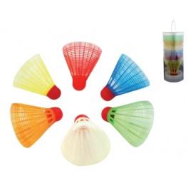 Ud. Tubo 6 volantes badminton plástico
