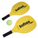 Jgo. Palas yellow con pelota Softee