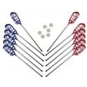 Ud. Set Lacrosse (12 palos + 6 pelotas)