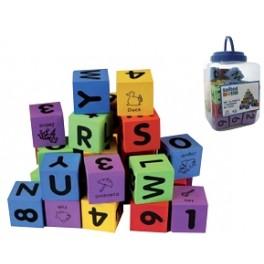 Set 30 Cubos Foam Alfabeto y Números