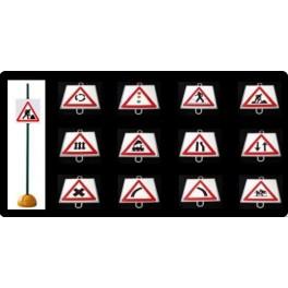 Ud. Panel Señalización Tráfico de Peligro nº 5 (NIVEL CON BARRERAS)