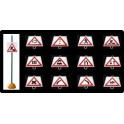 Ud. Panel Señalización Tráfico de Peligro nº 10 (SEMAFOROS)