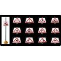 Ud. Panel Señalización Tráfico de Peligro nº 12 (CURVA IZQUIERDA)