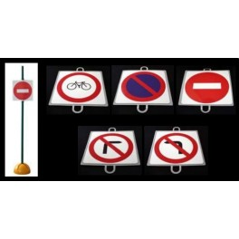 Ud. Panel Señalización Tráfico de Prohibición nº 2 (CICLOS)