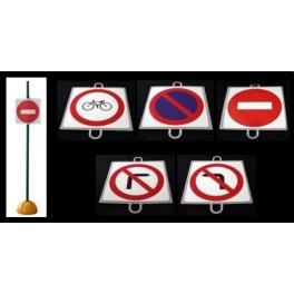 Ud. Panel Señalización Tráfico de Prohibición nº 5 (GIRA IZQA)