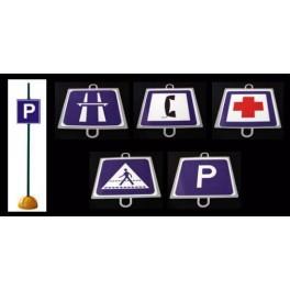 Ud. Panel Señalización Tráfico de Indicación nº 1 (PUESTO SOCORRO)