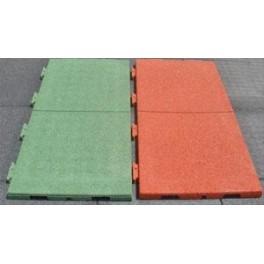 M2 de Loseta de caucho verde 1x0,50 m.