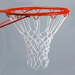 Jgo. Redes Baloncesto nylon 4,5 mm. 12 ganchos