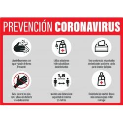 Vinilo adhesivo prevención Coronavirus