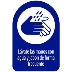 Vinilo adhesivo lavado manos
