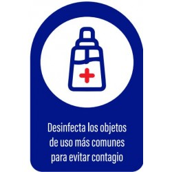 Vinilo adhesivo desinfecta objetos