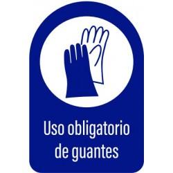 Vinilo adhesivo uso obligatorio de guantes