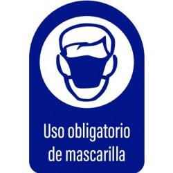 Vinilo adhesivo uso obligatorio de mascarilla
