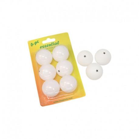 Blister 6 pelotas PVC tenis de mesa