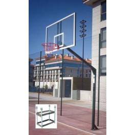 Jgo. Canastas baloncesto monotubo fijas