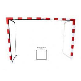 Jgo. Porterias fútbol sala / balonmano madera 80x80 mm. abatibles