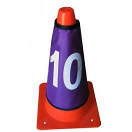 Ud. Set 10 fundas numeradas para cono
