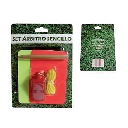 Ud. Set Tarjeta árbitro color roja/amarilla