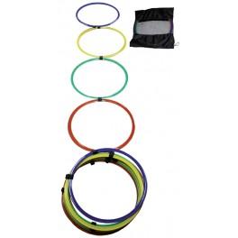 Ud. Escalera agilidad aros multicolor