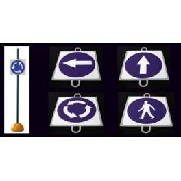 Ud. Panel Señalización Tráfico de Oblitgación nº 2 (SENTIDO DCHA)