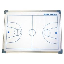 Ud. Pizarra magnetica cerco aluminio 60x90 cm. baloncesto