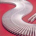 Rejilla rebosadero transversal para curvas modulo ancho 195 mm.