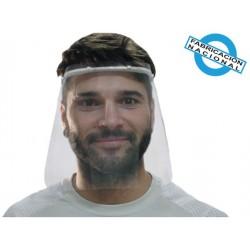 Pantalla facial protectora con diadema modelo 1