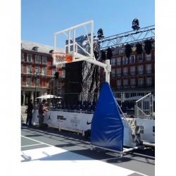 Juego Protectores Para Canastas Baloncesto Forma Triangular