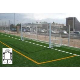 Jgo. Porterías fútbol 7 alum. 120x100 mm. abatibles